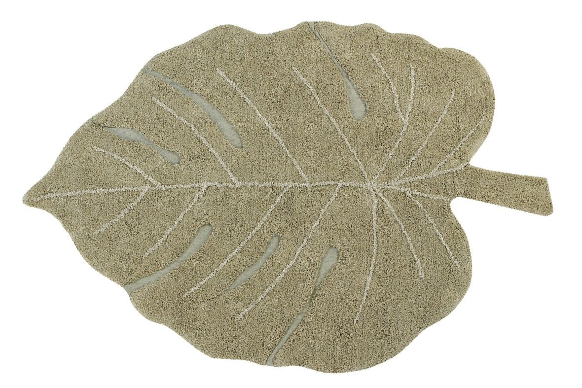 Alfombra Lavable Monstera Olive - Foto 1/6